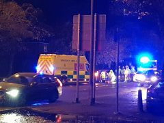 Firefighters attending to a vehicle in Blackpool Road Pic: Blog Preston