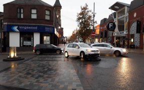 A driver stuck on the bollard plinth Pic: Alan Murray