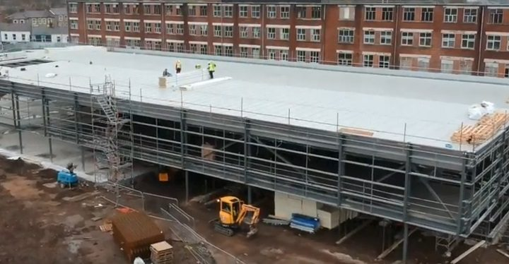 An overhead view of the new development in Watery Lane