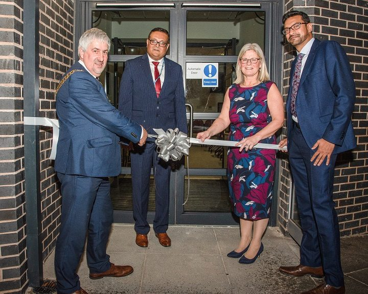 Councillor Trevor Hart joined the GPs to open the new medical centre