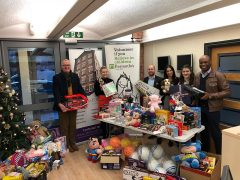 The collection point at Cotton Court during 2017's toy appeal
