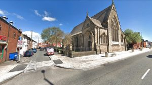 The attack took place between Derby Square and New Hall Lane Pic: Google
