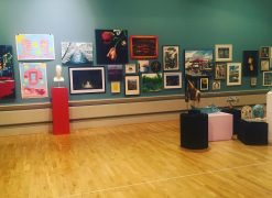 Some of the artwork from the Harris Open exhibition