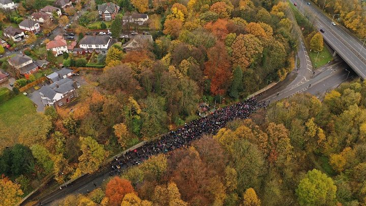 The Penwortham remembrance crowd Pic: Stephen Melling