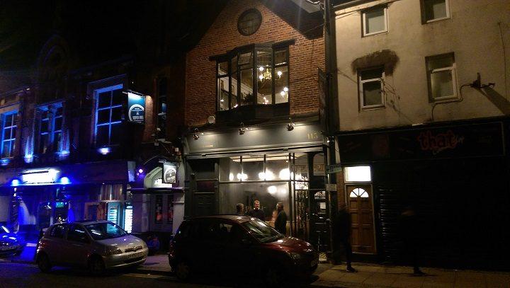 Outside Plau bar in Friargate