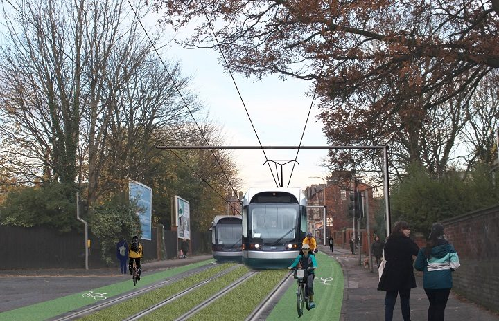 Trams were a big feature of the week's project - this could be Fishergate Hill
