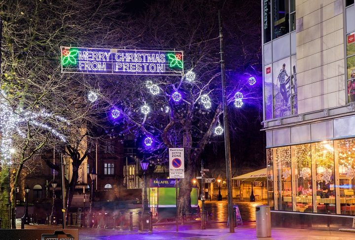 Christmas lights in Preston for 2018 Pic: Rijay Parmar