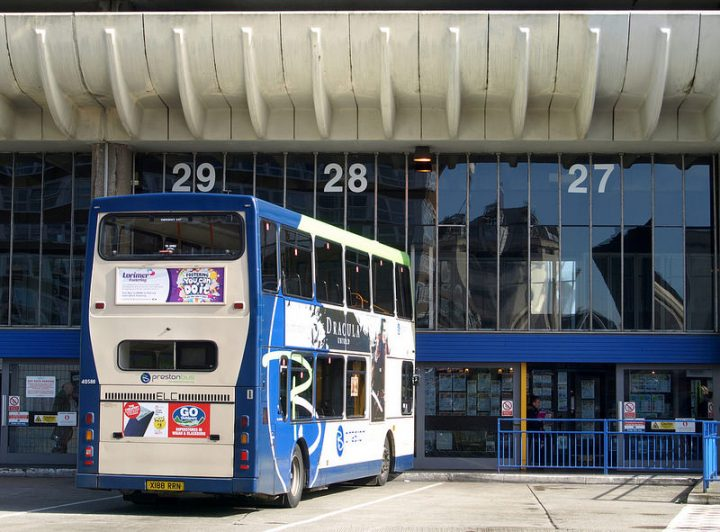 A Preston Bus service waits at the Bus Station Pic: Tony Worrall