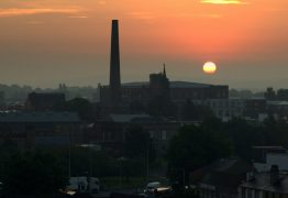 Sunrise over Preston Pic: Tony Worrall