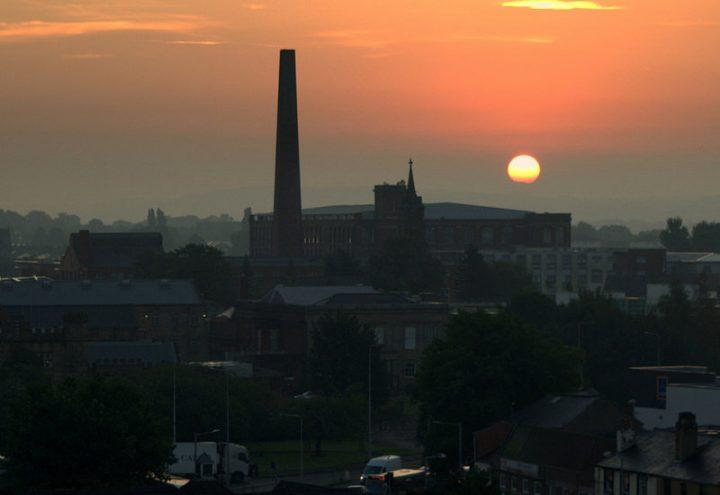 Sunrise over Preston Pic: Tony Worrall