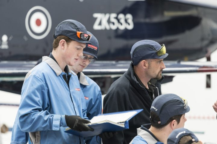 Many of the apprentice roles are in the air sector at BAE