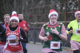 Runners dressed up to show their support and festive spirit Pic: Paul Melling