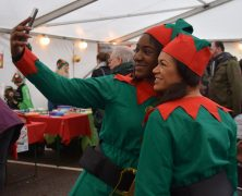 Taking a selfie at the Christmas Festival for St Catherine's