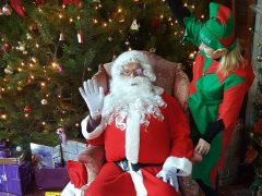 Santa will be appearing at Hoghton Tower