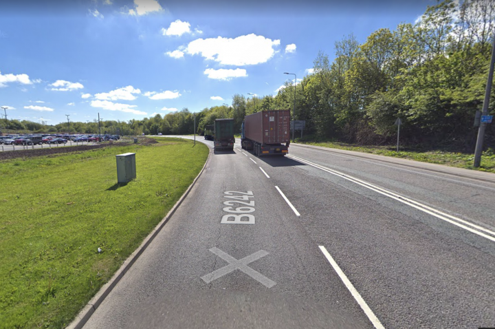 A serious road traffic accident has left Bluebell Way closed