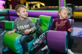 Inflatable touring company Wacky World are behind Wacky Ravers