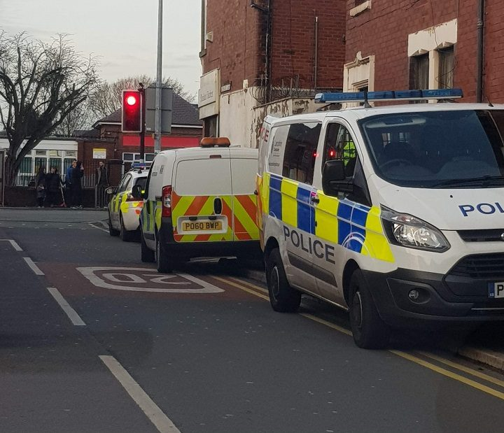 Police remained on the scene Pic: Blog Preston