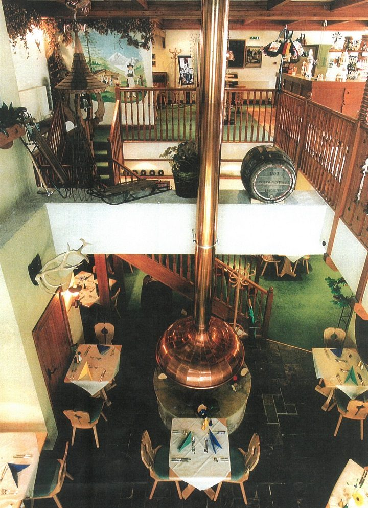 Looking down at the Alpenhof restaurant Pic: Catrina King/Society1