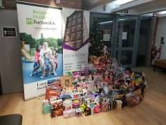 The collection of Christmas presents donated to Barnardo's Lancashire Pic: Debbie Nolan-Plunkett