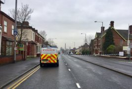 The police cordon was in place for more than three hours Pic: Plungington Labour