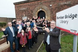 The key to Bamber Bridge library - they've got a big lock on the door!
