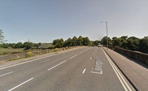 The crash took place close to the Broadgate Bridge Pic: Google