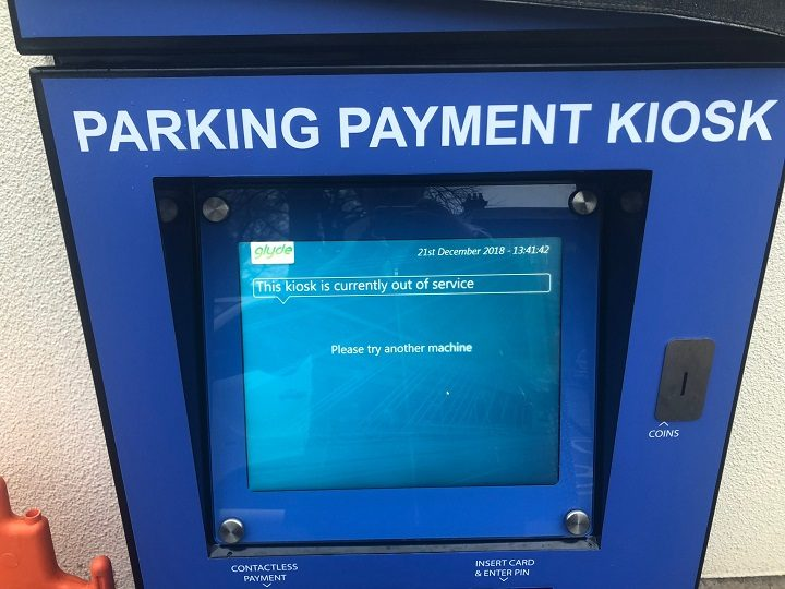 An out of action payment kiosk at one of the Lancashire Teaching Hospital Trust hospitals Pic: Lindsay Hoyle MP