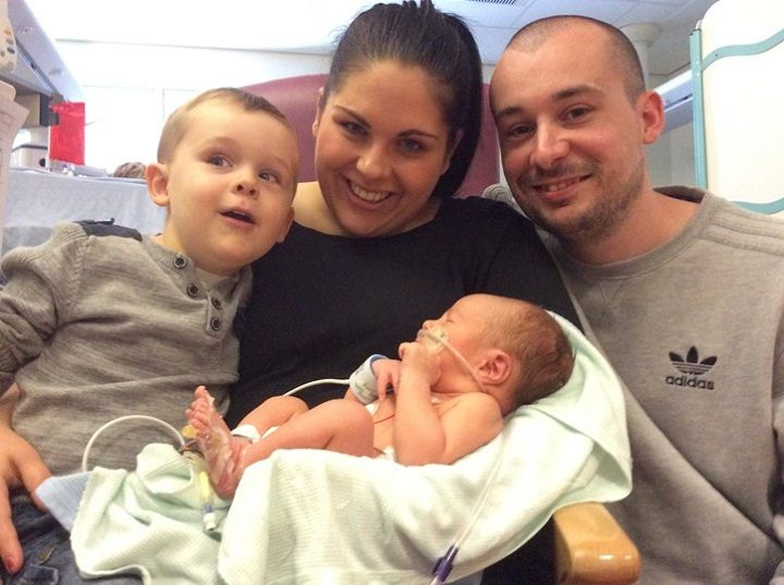 The family in hospital with William