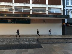 The former BHS site is now boarded up