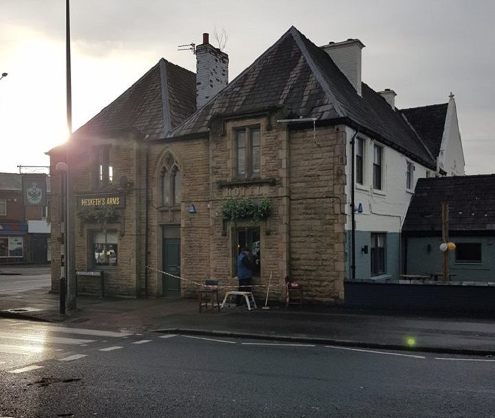 Repair work at the Hesketh Arms Pic: Blog Preston