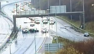 The crash took place just where the M61 slip road off the M6 is Pic: Highways England