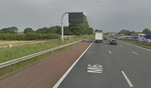 The crash took place to the north of Junction 32 Pic: Google