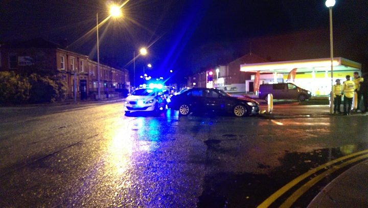 Preston Police presence at the scene in Lytham Road Pic: Blog Preston