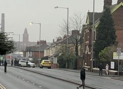Police in Blackpool Road on Christmas Day Pic: 3 Bean Coffee