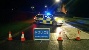 Police on the scene in St Michael's on the Wyre Pic: LancsRoadPolice