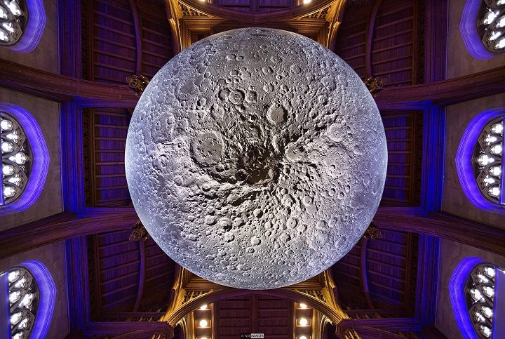 Looking up at the giant moon Pic: Neil James