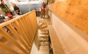 Going up the stairs in the Union Lofts Pic: Rijay Parmar