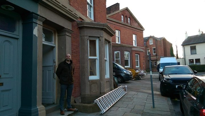 Max Williams at the front of the Winckley Square Hotel Pic: Blog Preston