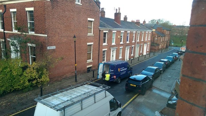 The view from one of the apartment windows looking down Camden Place to Winckley Square Pic: Blog Preston
