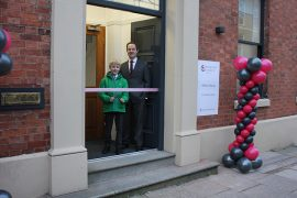 Arthur and Richard Freye open the newly renovated Service Care Solutions building