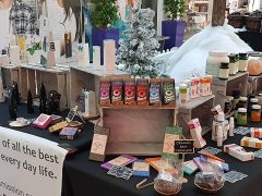 A stall at the Etsy Lancashire Market in December