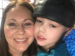 Joanne Griffiths with her son Ben
