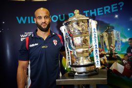 Rugby League World Cup trophy Pic: Leeds Library and Information Service