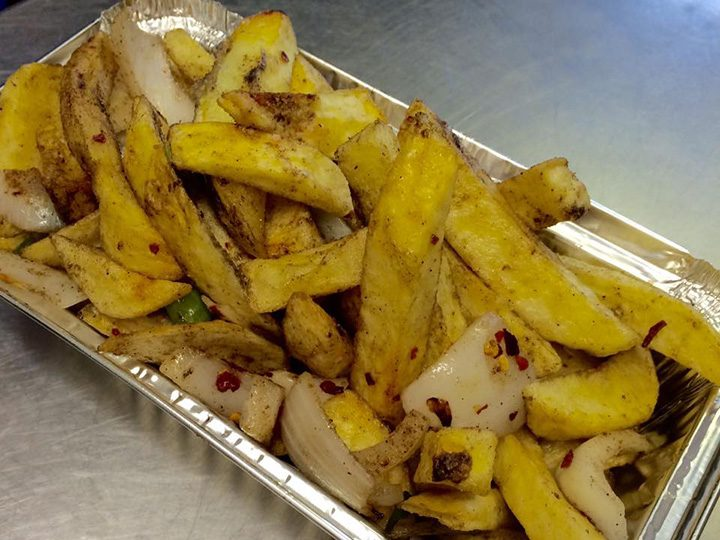 Salt and chilli chips Pic Barton Takeaway/Facebook