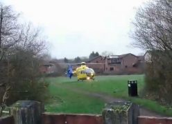 The air ambulance in Fulwood