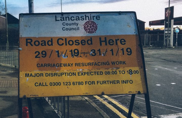 Signs have gone up advising of the work in Brownedge Road Pic: Paul McMullan/Blog Preston