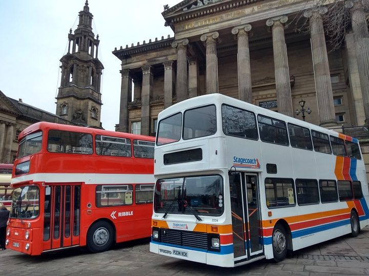Two of the Ribbles buses, including a later Stagecoach version, parked up Pic: Nigel Whalley