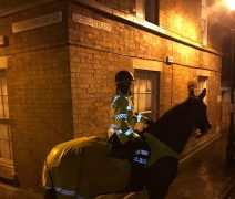 Mounted police in Cadogan Place Pic: Lancs Mounted Police