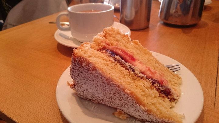 A slice of cake at the Cobbled Corner cafe Pic: John Hickey