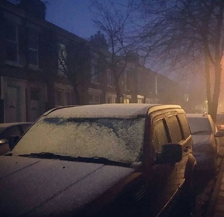 The city has seen temperatures plummet throughout the week Pic: Louise Mason